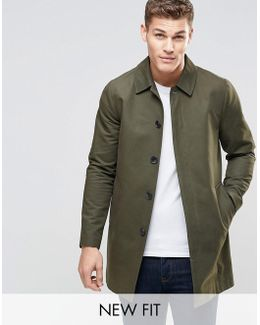 Single Breasted Trench Coat With Shower Resistance In Khaki