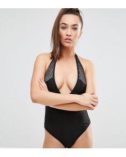 Crochet Insert Swimsuit B/c - E/f Cup