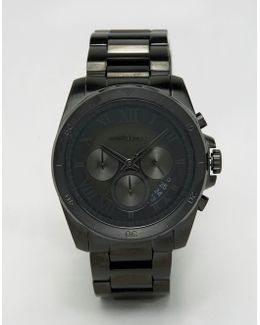 Brecken Chronograph Black Watch In Stainless Steel Mk8482