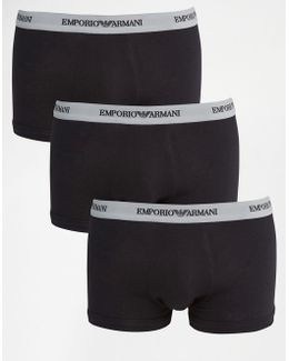 Stretch Cotton Trunks 3 Pack