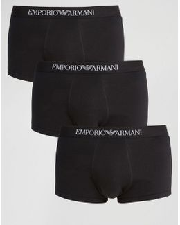 Cotton Trunks In 3 Pack