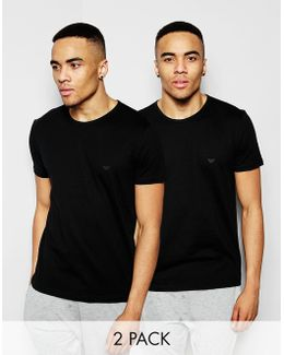 Cotton Crew Neck T-shirts 2 Pack In Regular Fit