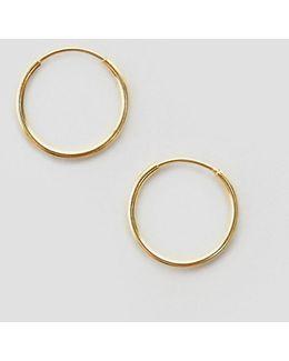 Gold Plated Sterling Silver 9mm Hoop Earrings