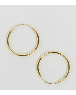 Gold Plated Sterling Silver 20mm Hoop Earrings