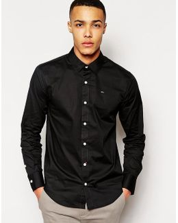 Tommy Hilfiger Sabim Cotton Shirt With Stretch In Slim Fit