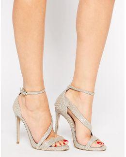 Gosh Gold Heeled Strap Sandals