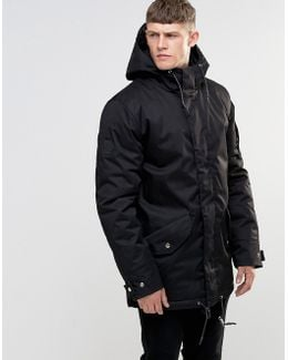 Short Padded Parka With Magnetic Fastening