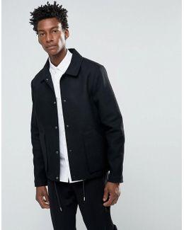 Bellow Pocket Wool Coach Jacket