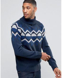 Christmas Jacquard Geometric Knitted Jumper