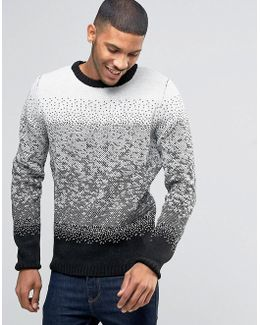 Ombre Jacquard Knitted Jumper