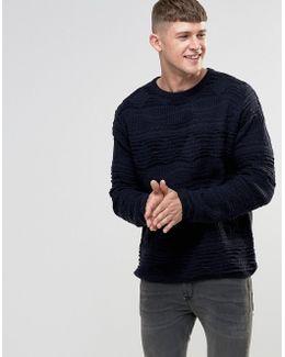 3d Textured Knitted Jumper