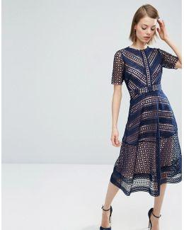 Premium Occasion Lace Midi Dress