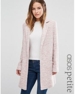 Textured Coat In Relaxed Fit