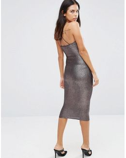 Metallic Midi Cami Dress