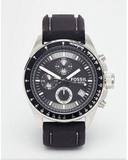 Decker Silicone Strap Watch Watch Ch2573 - Black