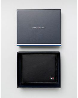 Eton Mini Billfold Leather Wallet In Black