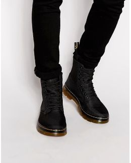 Tract Fold Boots - Black