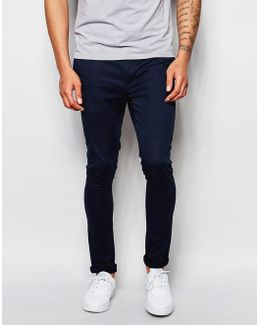 Extreme Super Skinny Chinos In Navy