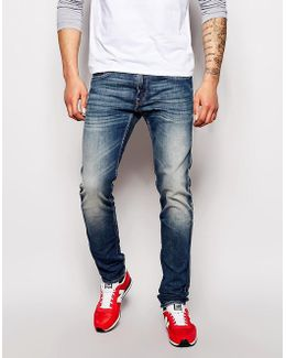 Jeans Anbass Slim Fit Stretch Barent Mid Wash