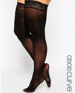 50 Denier Lace Top Hold Ups