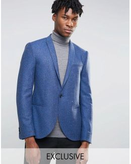 Slim Blazer In Herringbone