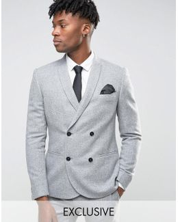 Skinny Db Suit Jacket In Flannel