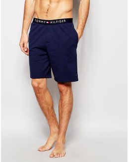 Cotton Lounge Short In Navy