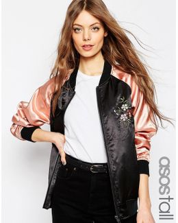 Premium Bomber Jacket With Floral Embroidery