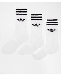 Solid Crew 3 Pack Socks S21489
