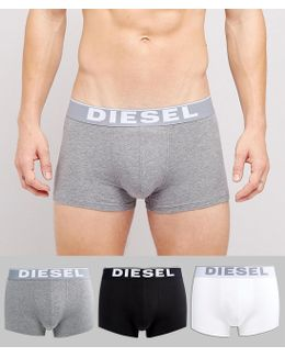 Cotton Stretch Trunks In 3 Pack