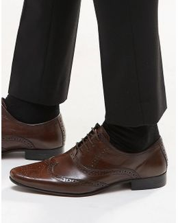 Oxford Brogue Shoes In Leather