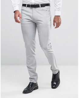 Super Skinny Smart Trousers With 5 Pockets In Pale Grey