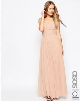 Wedding Ruched Panel Maxi Dress