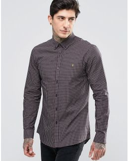 Oxford Shirt With Yarn Dyed Check In Slim Fit Red