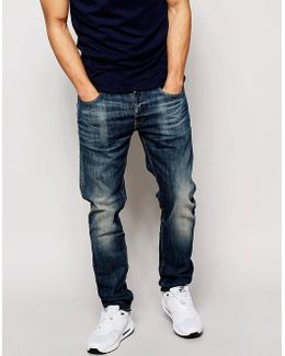Jeans 3301 Slim Fit Blue Delm Stretch Mid Wash