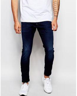 Jeans Defend Super Slim Skinny Fit Slander Indigo Superstretch Dark Aged