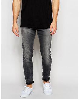 Jeans Defend Super Slim Skinny Fit Slander Grey Superstretch Light Aged