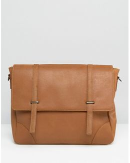 Leather Satchel With Metal Fastening