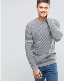Basket Stitch Knitted Jumper