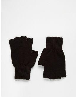 Fingerless Gloves In Black