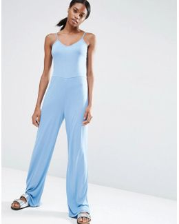 Cami Jumpsuit With Wide Leg