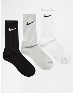 3 Pack Cotton Crew Socks