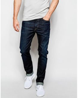 Jeans 901 Limited Edition Regular Stretch Tapered Fit Dark Wash
