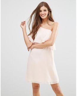 One Flutter Sleeve Dress In Blush