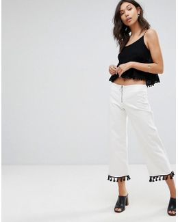 Slim Fit Cropped Pants