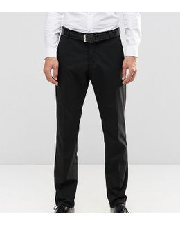 Slim Checked Trousers With Stretch And Turn Up