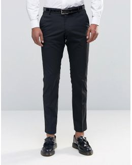 Tuxedo Suit Trousers With Stretch In Slim Fit
