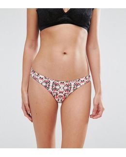 Cheeky Floral Bikini Bottom