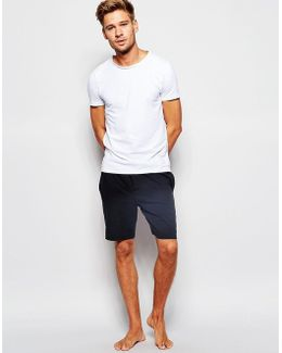 Icon Cotton Lounge Shorts In Regular Fit