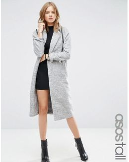 Coat With Batwing Sleeve In Midi Length